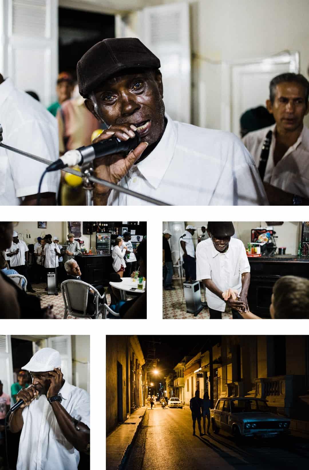 Cuban singers in a bar