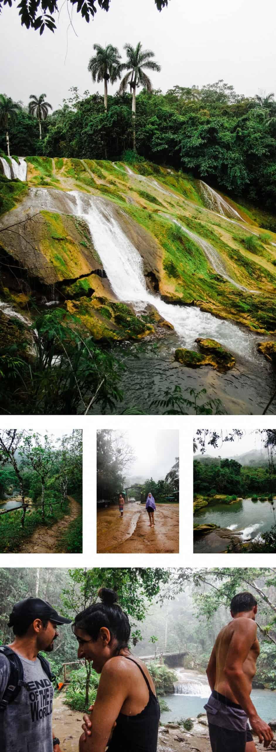 Cuba national park and waterfalls