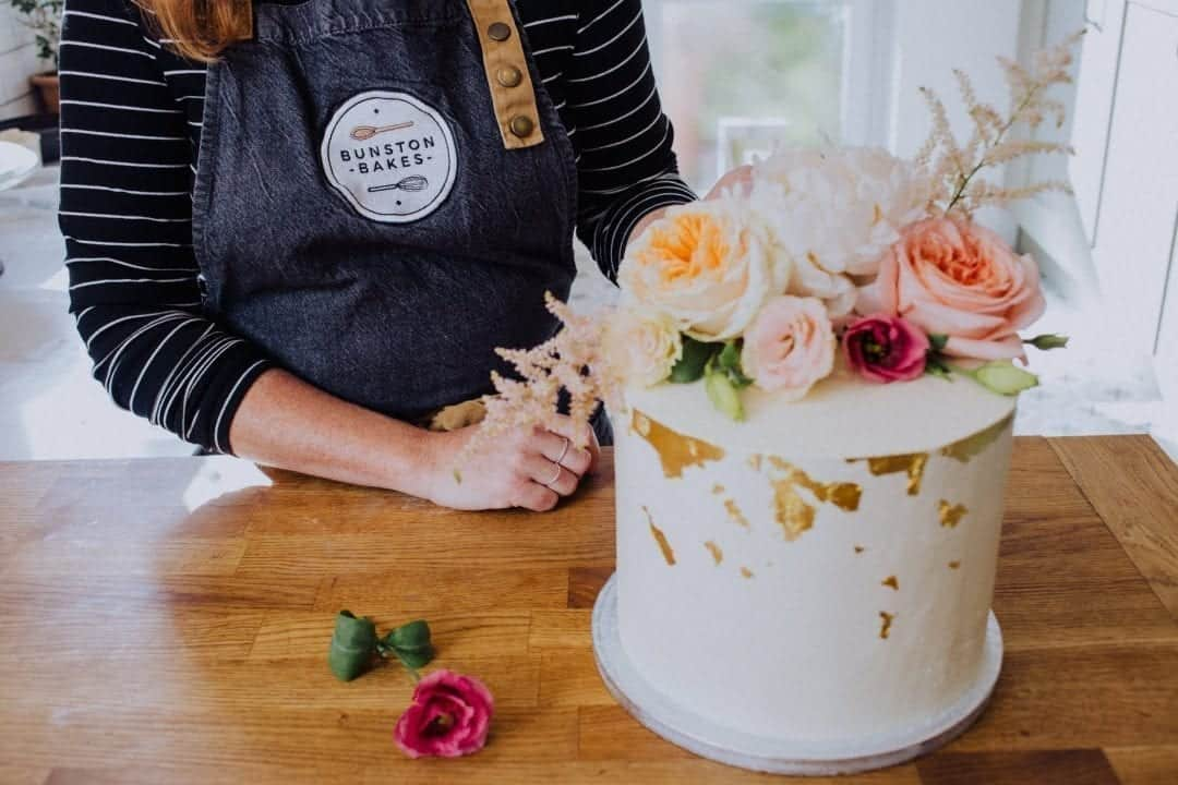 Sussex wedding cake by Bunston Bakes