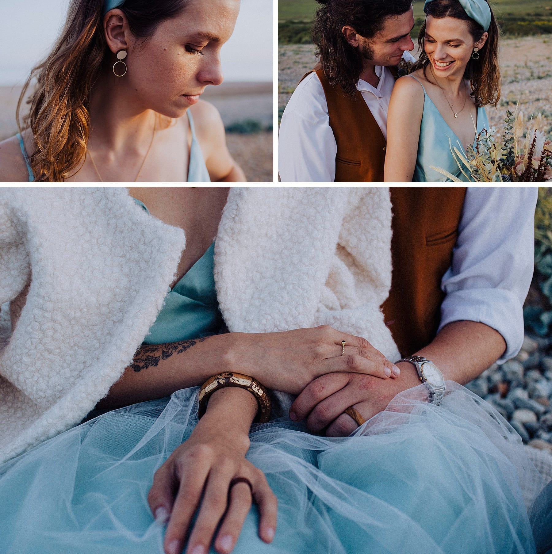 Jewelry inspiration for a coastal elopement styled shoot