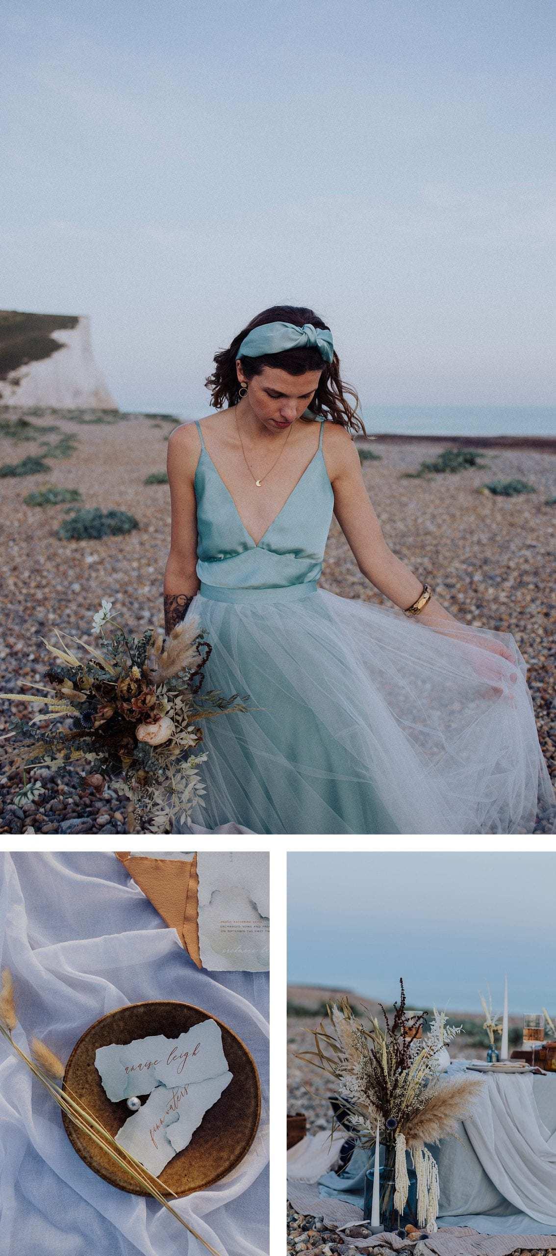 Wedding photos inspiration for a wedding by the sea