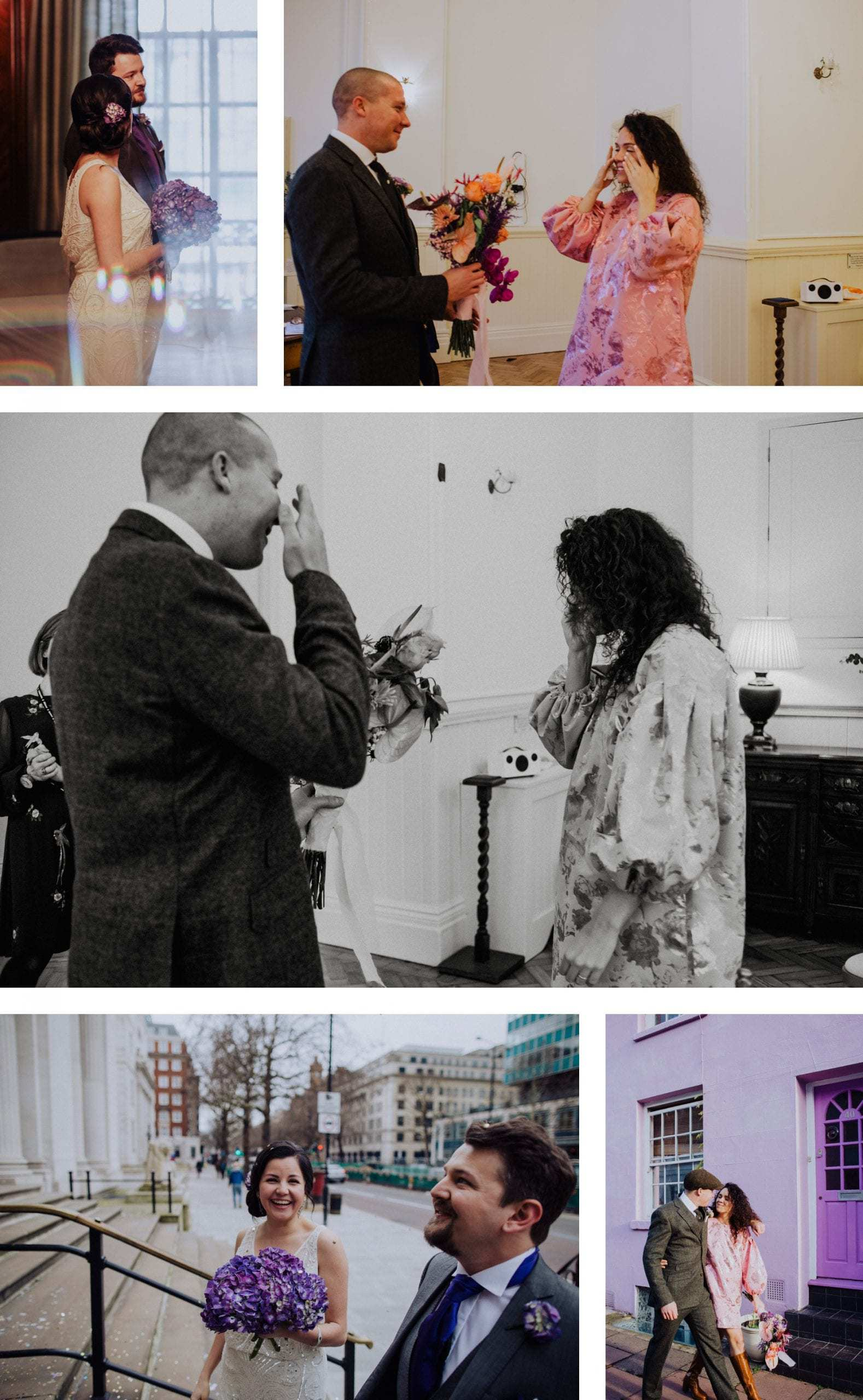 Couples getting married at Hackney Town Hall
