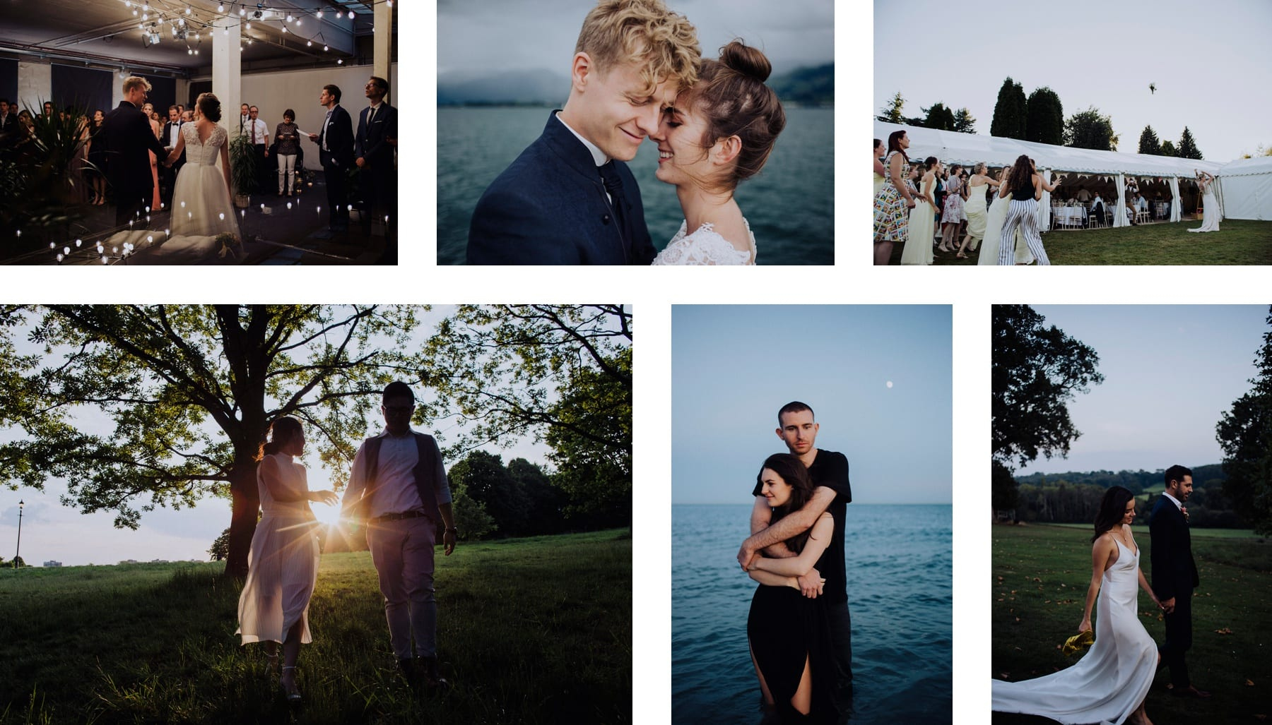 Photos of couples getting married
