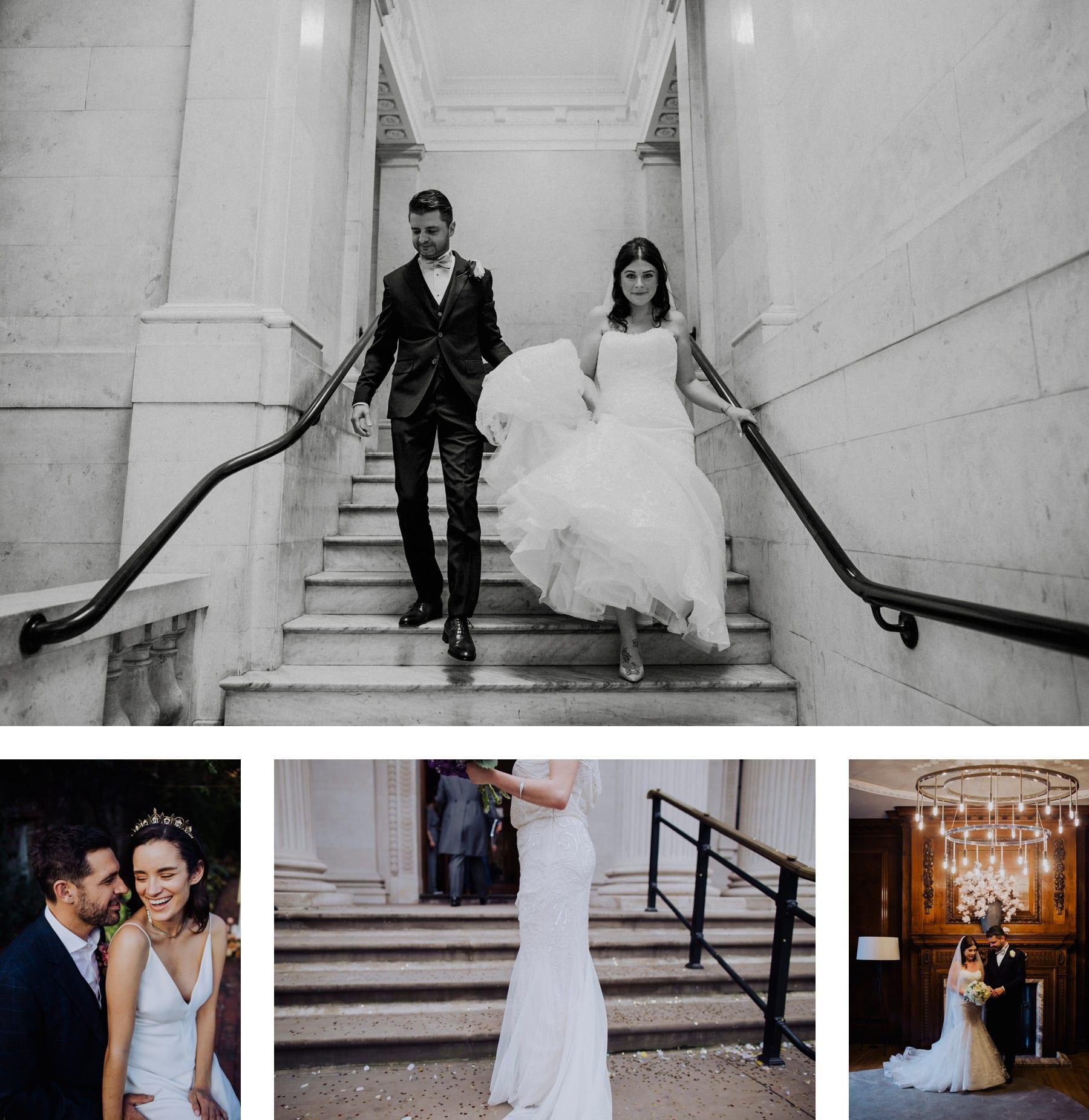 Wedding photos at Marylebone Town Hall