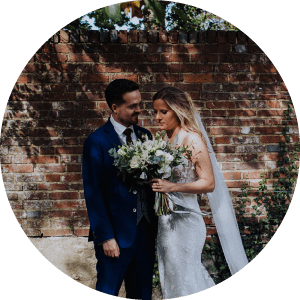 Couple married at Bury Manor Barn, Sussex
